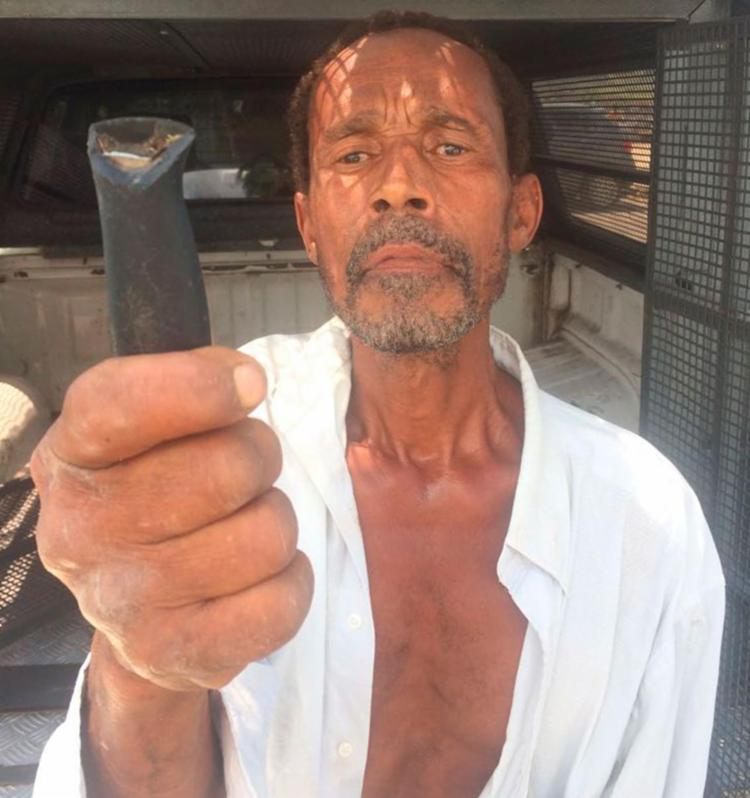 Parte da arma usada no crime foi apreendida pela polícia - Foto: Divulgação | SSP