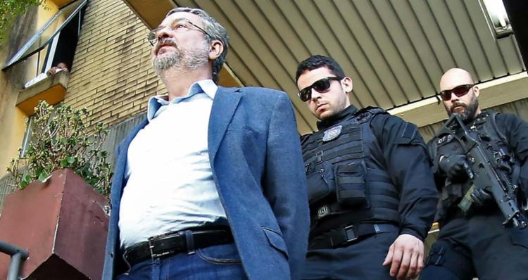 O ex-ministro Antonio Palocci cumpria pena na Superintendência da Polícia Federal no Paraná - Foto: Heuler Andrey | AFP | 26.06.2017