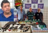 Quatro são presos e 122 armas apreendidas em Teixeira de Freitas | Foto: