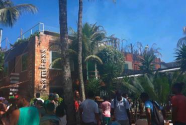 Incêndio atinge pousada e restaurante em Morro de São Paulo