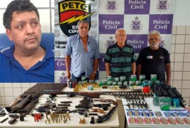 Quatro são presos e 122 armas apreendidas em Teixeira de Freitas