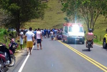 Ex-prefeito de Jiquiriçá fica ferido em colisão com moto na BR-420