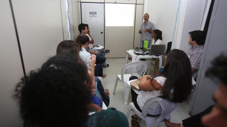 Grupo realiza treinamento na Secretaria Municipal de Saúde - Foto: Joá Souza | Ag. A TARDE | 09.10.2017