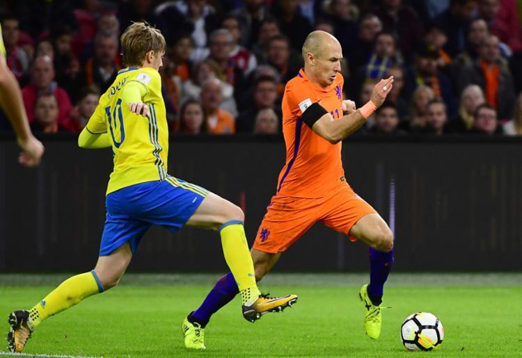 Robben marcou dois gols, mas não foram suficientes para a classificação holandesa - Foto: Emmanuel Dunand | AFP