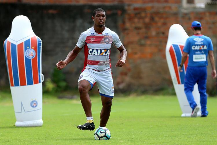 Rodrigão marcou apenas um gol – de pênalti – nos últimos oito jogos - Foto: Felipe Oliveira l EC Bahia