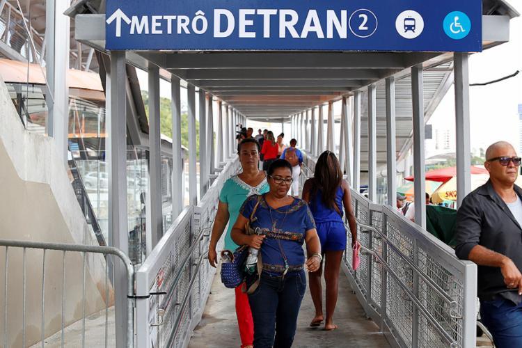 Equipamento foi inaugurado nesta terça-feira, 10, na estação do metrô - Foto: Adilton Venegeroles l Ag. A TARDE