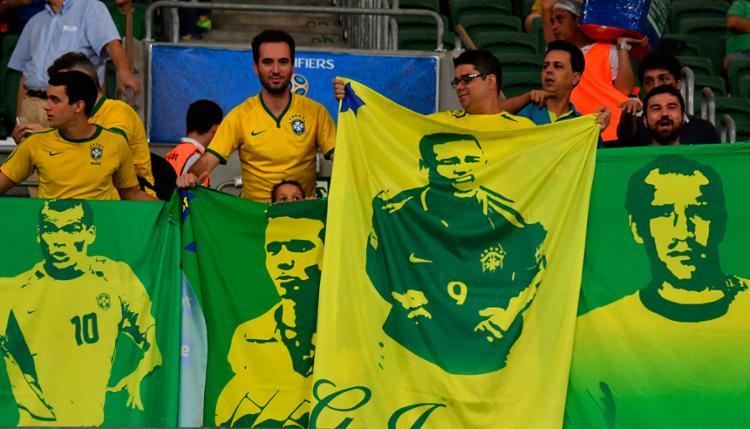 Faixa com Gabriel Jesus, ex-jogador do Palmeiras - Foto: Nelson Almeida | AFP