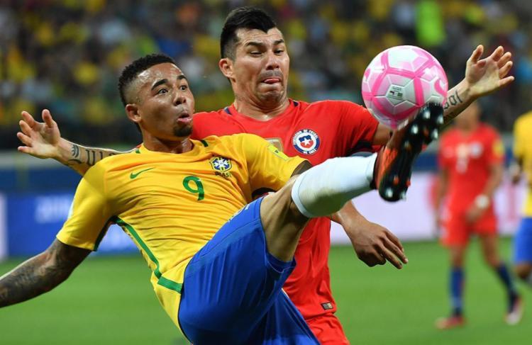 Gabriel Jesus é um dos principais jogadores da Seleção desde o último Mundial - Foto: Nelson Almeida e Miguel Schincariol | AFP