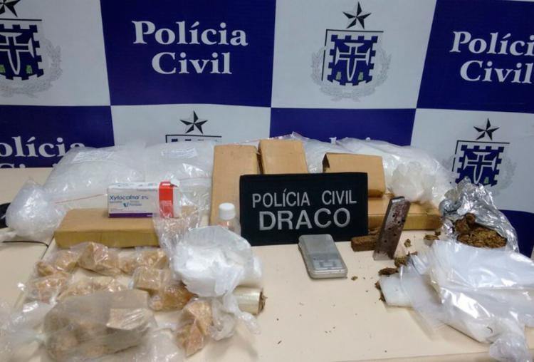 Todo material apreendido foi encaminhado para perícia no DPT - Foto: Divulgação | Polícia Civil