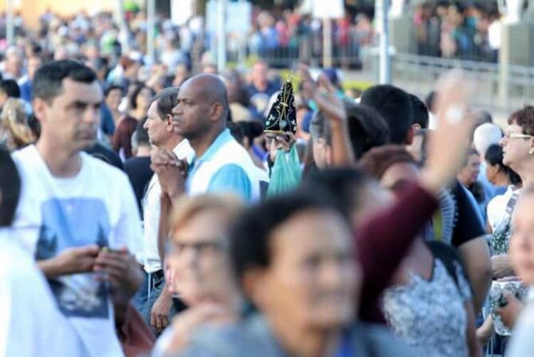 Devotos de Nossa Senhora Aparecida compareceram ao Santuário Nacional no dia da Padroeira do Brasil - Foto: Felipe Guimarães l Santuário Nacional