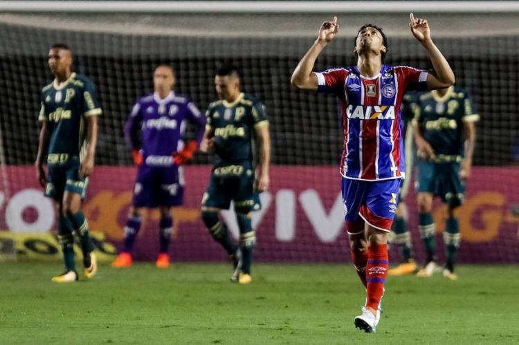 Edigar Junio foi o 'responsável' pelos gols do Tricolor contra o Palmeiras - Foto: RODRIGO GAZZANEL | ESTADÃO CONTEÚDO