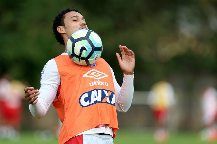 Nos últimos cinco jogos, Edigar Junio fez quatro gols - Foto: Felipe Oliveira l EC Bahia