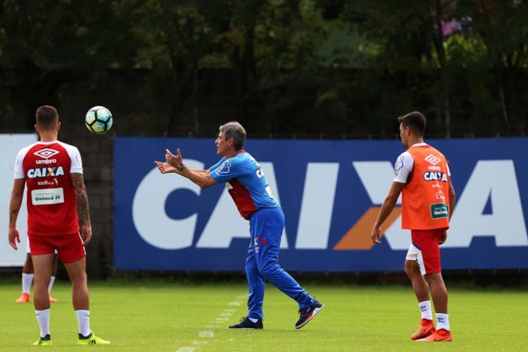 Após empate com o Palmeiras na estreia, Carpé tenta derrotar o líder - Foto: Felipe Oliveira | EC Bahia | Divulgação