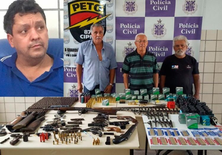 Comerciantes foram autuados por venda ilegal de armas - Foto: Divulgação | Polícia Civil