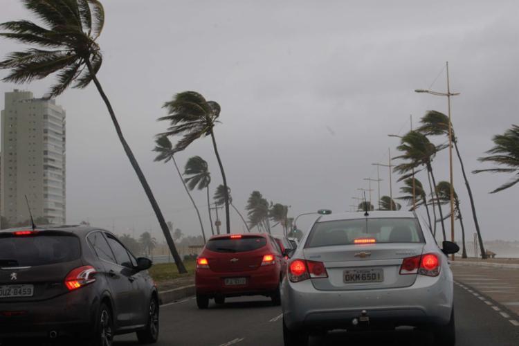 Velocidade média do vento atingiu a marca de 5,4 km/h - Foto: Margarida Neide | Ag. A TARDE | 3.7.2017