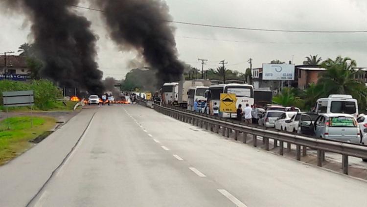Não há informações sobre a extensão do engarrafamento - Foto: Divulgação | Concessionária Bahia Norte