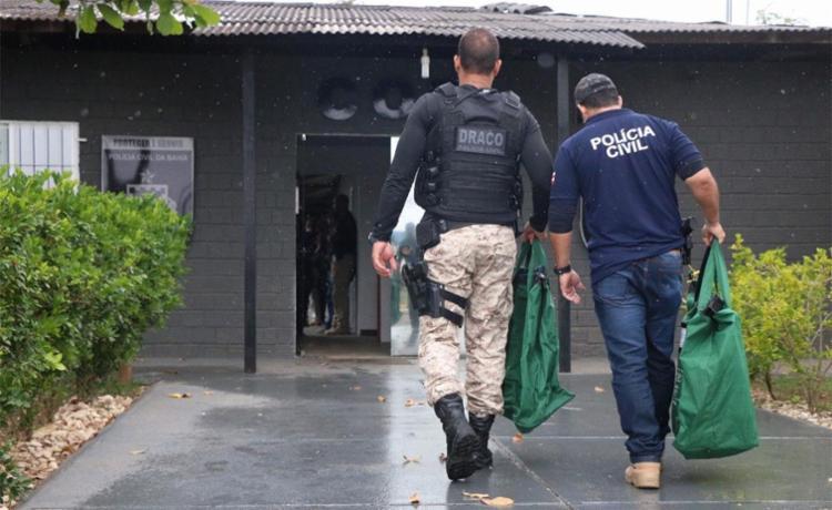 Foram cumpridos 14 mandados de busca e apreensão - Foto: Alberto Maraux | Divulgação | SSP