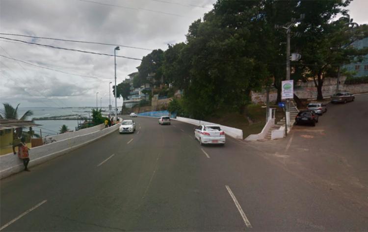 Danilo da Silva foi preso na avenida Contorno, na região da Gamboa - Foto: Reprodução | Google Maps