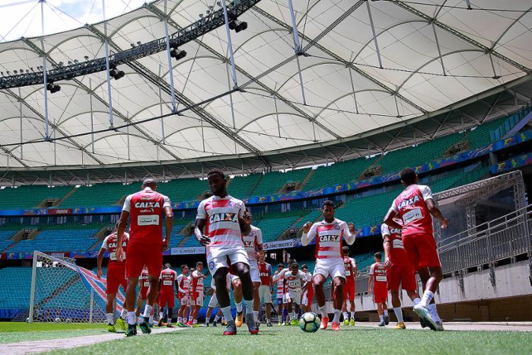 Tricolor conta com o apoio da torcida para bater o Leão - Foto: Felipe Oliveira l EC Bahia