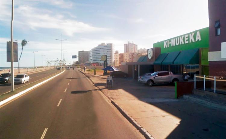 O acidente aconteceu em frente ao restaurante Ki Muqueca, em Armação - Foto: Reprodução | Google Maps