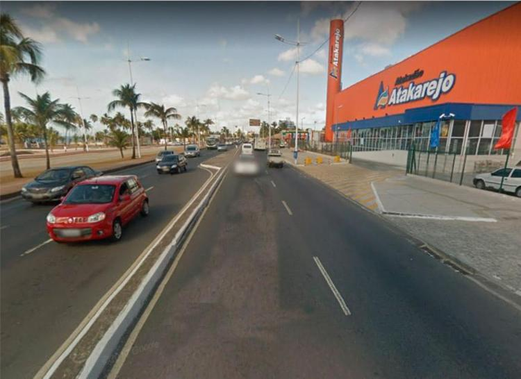Trânsito ficou lento na região - Foto: Reprodução | Google Maps