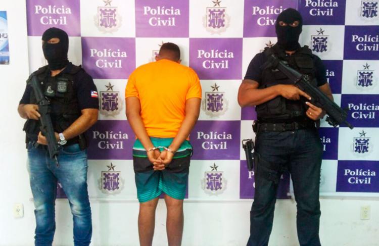 Traficante conhecido como Lenga foi apresentado pela polícia - Foto: Divulgação | Polícia Civil