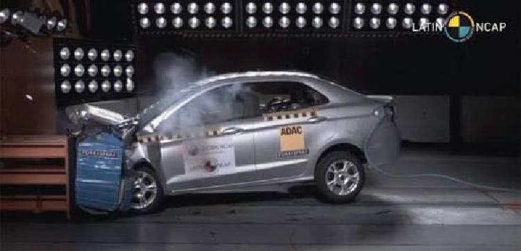 Ford Ka e Ka + zeram no teste de colisão - Foto: Ford | Divulgação