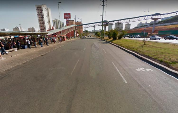 Acidente aconteceu nas proximidades do supermercado Extra - Foto: Reprodução | Google Maps