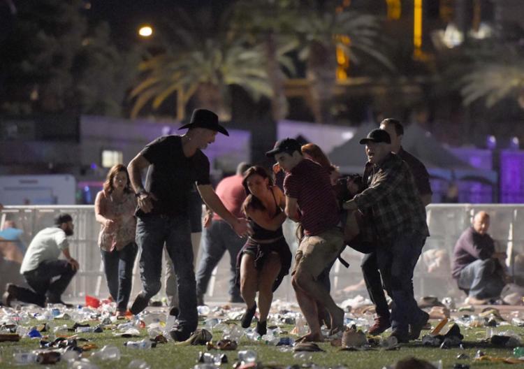O ataque ocorreu no domingo à noite, durante apresentação do astro de música country Jason Aldean - Foto: David Becker   AFP
