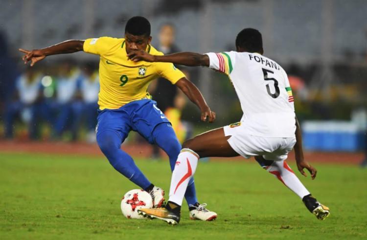 Brasil terminou na 3ª colocação do Mundial Sub-17 - Foto: Dibyangshu Sarkar | AFP