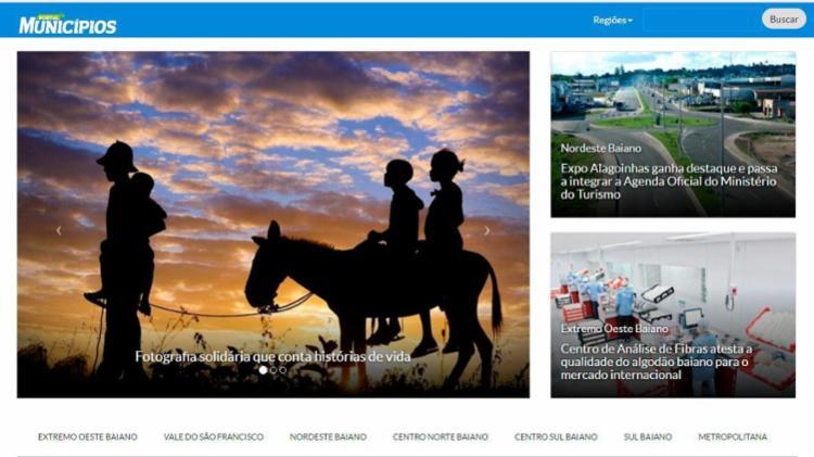 Nova ferramenta dá acesso a informações das sete mesorregiões do Estado - Foto: Reprodução | Portal A TARDE
