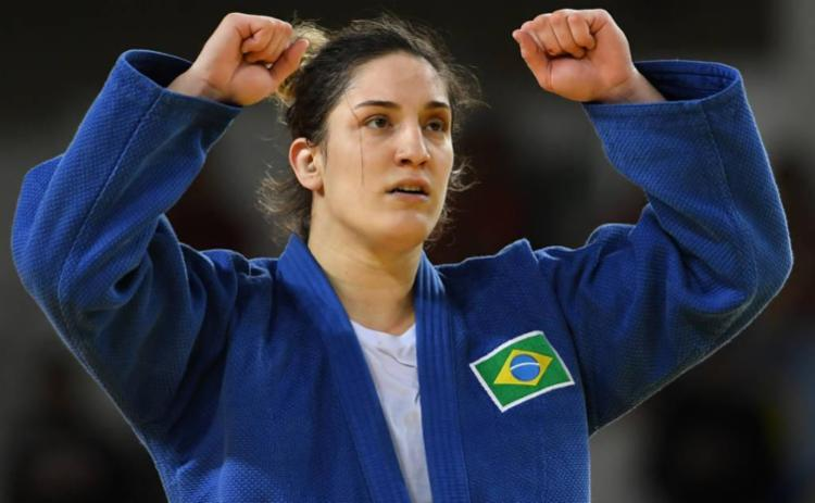 Mayra Aguiar ficou na terceira posição da categoria 78kg - Foto: Toshifumi Kitamura | AFP