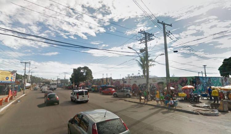 O acidente aconteceu nas imediações do ferryboat, em Água de Meninos - Foto: Reprodução | Google Maps