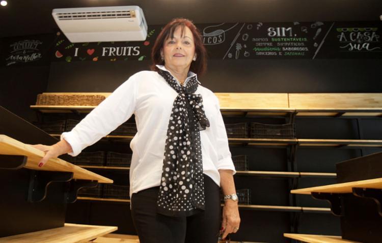Aposentada, Julieta Lomanto está com tudo pronto para abrir um hortifrúti com conceito de