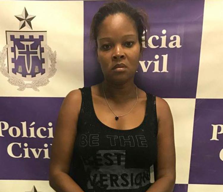 Lucineide foi autuada em flagrante por receptação - Foto: Divulgação | Polícia Civil