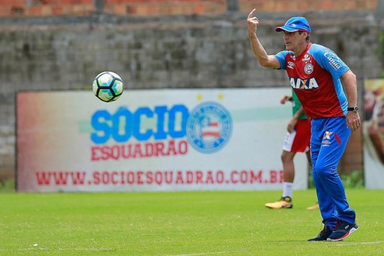 Em cinco jogos com Carpé, o Tricolor tem 53% de aproveitamento - Foto: Felipe Oliveira l EC Bahia