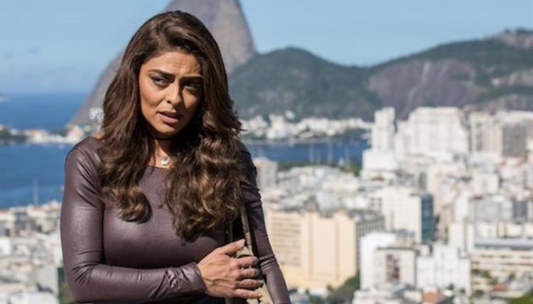 Juliana Paes foi alvo de xingamentos do morador, que se disse fã de Jair Bolsonaro - Foto: Reprodução | TV Globo