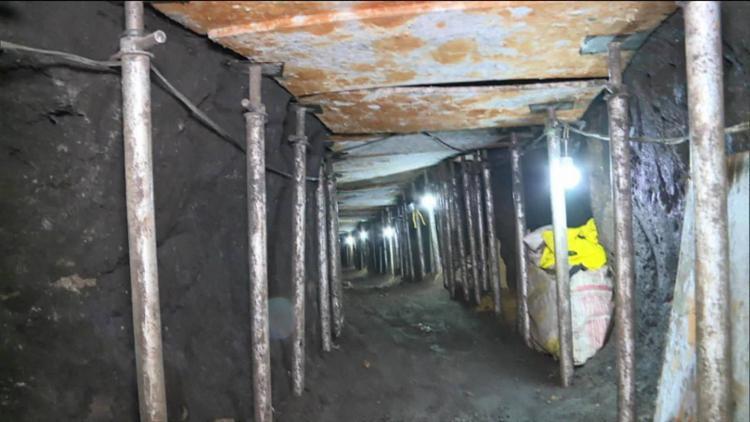 O túnel é quase 8 vezes maior ao usado para roubar R$ 164 mi do Banco Central em Fortaleza - Foto: Reprodução | TV Globo