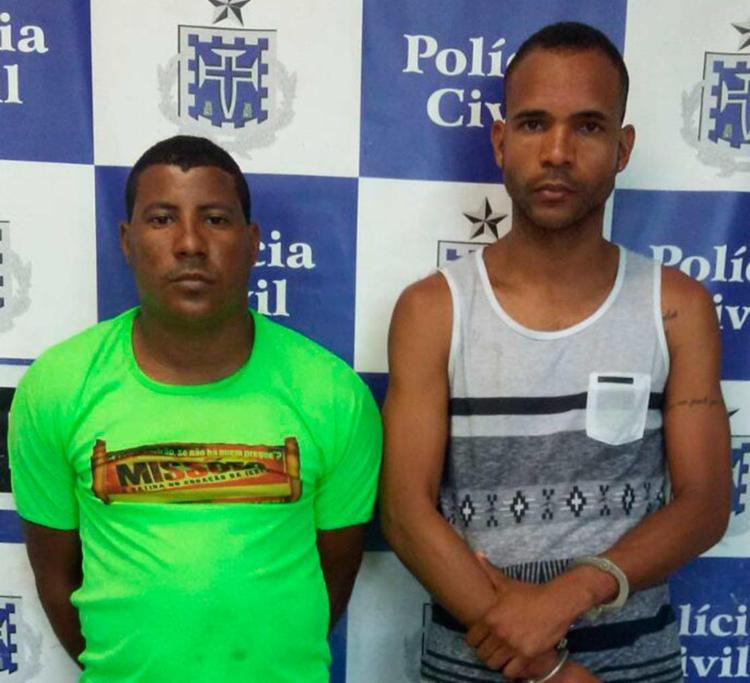Os dois também são investigados por envolvimento com o tráfico de drogas - Foto: Divulgação   Polícia Civil