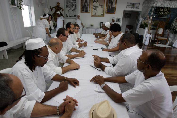 Encontro reuniu sacerdotes e sacerdotisas do candomblé - Foto: Luciano da Matta | Ag. A TARDE