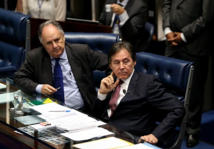 Logo após adiar caso Aécio, presidente Eunício Oliveira conduziu em tempo recorde votação da reforma - Foto: Wilson Dias | Agência Brasil