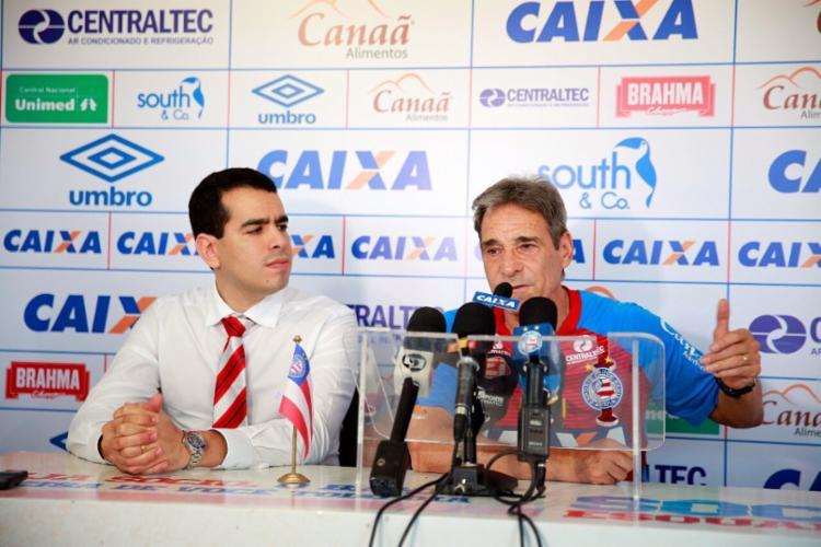 Apresentação do novo técnico do tricolor baiano - Foto: Divulgação | E.C. Bahia