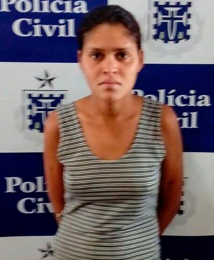 Ela alegou que agrediu o companheiro por ter sido expulsa de casa - Foto: Divulgação | Polícia Civil