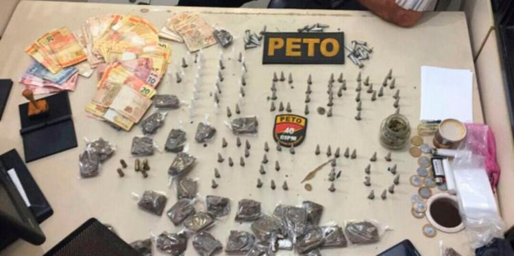 Material encontrado com os três foi encaminhado à delegacia - Foto: Divulgação   SSP-BA