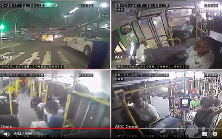 Vídeo mostra momento em que passageiros se jogam de ônibus em movimento - Foto: Divulgação   SSP-BA