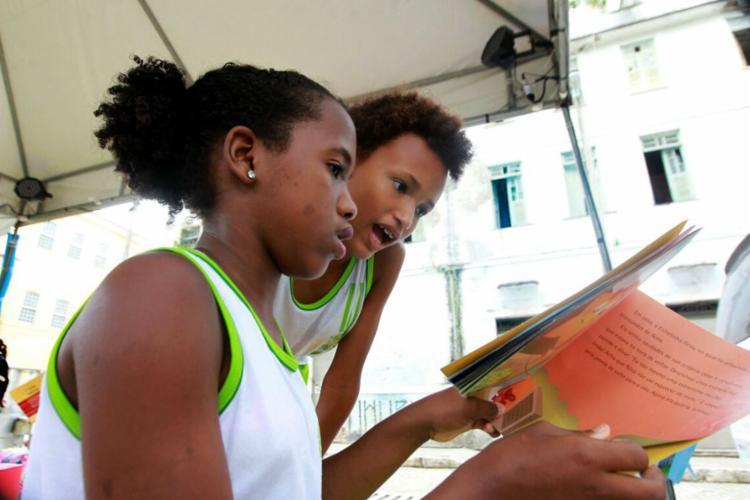Atividades de incentivo à leitura para crianças são destaque no evento - Foto: Manu Dias | Divulgação