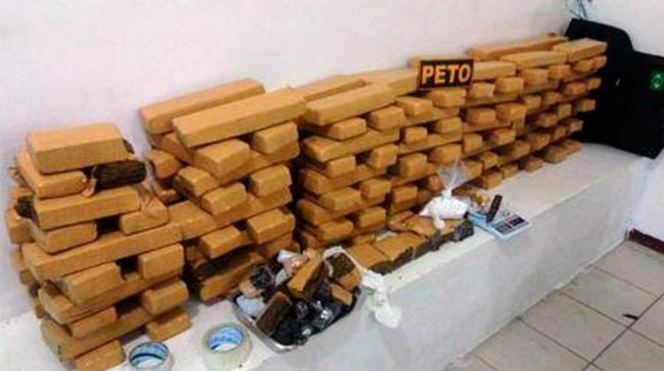 A droga foi encontrada após buscas mais minuciosas realizadas pelos militares - Foto: Divulgação | PM-BA