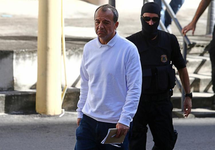 Sérgio Cabral é acusado de pegar R$ 1 milhão do secretário da SEAP, César Rubens - Foto: Fábio Motta l Estadão Conteúdo