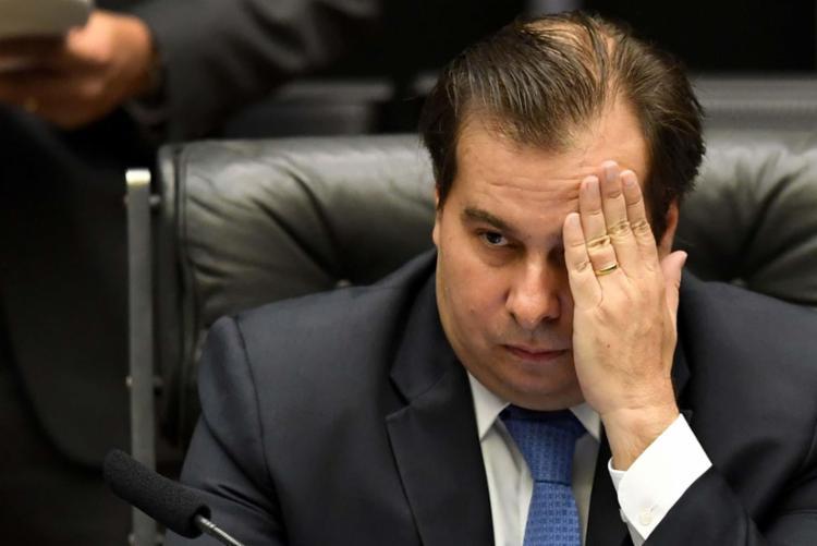 Maia negou que a decisão possa ter sido motivada para tirar as atenções da reforma da Previdência - Foto: Evaristo Sá | AFP