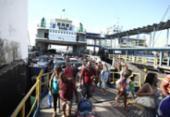 Motoristas esperam até 2h para embarcar no ferry em Itaparica | Foto: